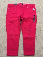 NWT Gap GIRLFRIEND JEANS size 18  Reddish Pink (Inseam 25.5) NEW  B88