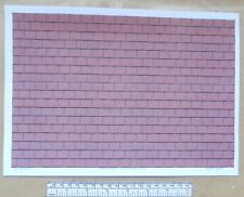 1/32nd scale (1:32) red roof tile paper - A4 sheet (297 x 210 mm)