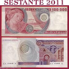 ITALIA ITALY 100.000 1000000 Lire BOTTICELLI  1978 ERRORE   P 108a  SPL++/XF++