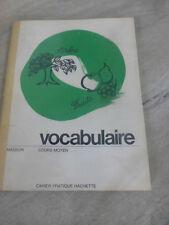 ancien manuel livre scolaire vocabulaire cours moyen Masson hachette 1966 retro