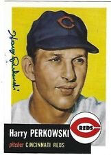 Autographed 1953 Topps Archives #236 Harry Perkowski Cincinnati Reds  Dec.2016