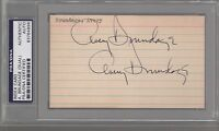 Avery Brundage Olympics Signed AUTOGRAPH Index Card Dual PSA DNA