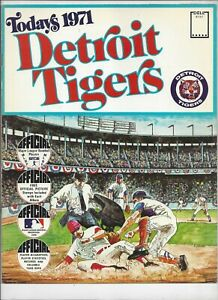 1971 TODAYS DETROIT TIGERS  DELL TEAM STAMPS ALBUM BOOK