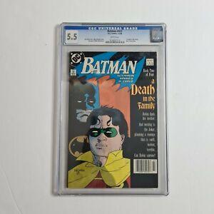 Batman #427. KEY DEATH IN FAMILY. VINTAGE 1989 DC Comics graded by CGC 5.5