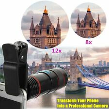 Clip-on 12x30 Optical Zoom HD Telescope Camera Len For Universal Mobile
