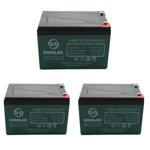 3 Pack Sealed Lead Acid Battery SLA for EZIP Scooter 650 750 900 12v 12Ah 36v