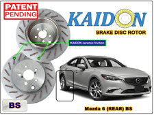 "Mazda 6 disc rotor KAIDON (Rear) type ""BS"" / ""RS"" spec"