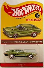 Hot Wheels RLC Neo-Classics '72 Ford Gran Torino Sport #DTH36 1:64 Scale Diecast