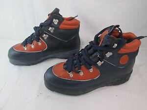 Fila Arkana Leather Mens Hiking Boots Blue & Orange, Size 9.5 US hi top