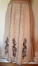Glass Diva Skirt SZ 14 Champagne Chiffon Hand Beaded Formal Cocktails Stunning!