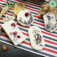 DIY Candles Aroma Wax Tablets Perfume Dried Flowers Silicone Soap Mold 6-Cavity