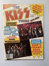 VINTAGE - KISS Magazine THE TOURS Rock Scenes Spotlight #5 1988 w/ inserts