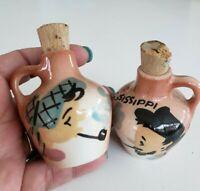 Vintage Ma & Pa JUGs Salt & Pepper Shaker Set Mississippi