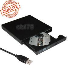 Lecteur-graveur CD et DVD externe USB +cable pour PC et portable auto-alimenté