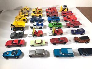Vintage Hot Wheels Redlines & BWs Matchbox Etc Big Machinery (28) Cars Trucks