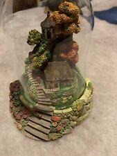 Franklin Mint Figurine - Autumn Splendor Cottage - Violet Schwenig - Glass Dome