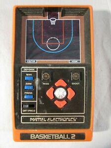 Vintage 1979 Mattel Electronics Basketball 2 Handheld Game