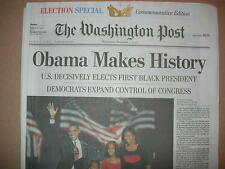 """Obama Makes History""    The Washington Post   11/5/2008 1st term November 5 '08"