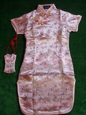 NUEVO Niña Satén De Flores Vestido CHINO rosa fucsia rojo pastel 9 mes a 16años