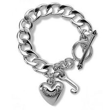 Juicy Couture Bracelet Silver Starter Classic Banner Heart New $48