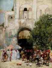 Pasini Alberto Market Day Constantinople A4 Print