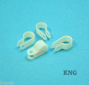 50 Nylon P Clips 12mm/8mm/6mm Mounting Cable Pipe Tube Hose Plastic Car Bracket
