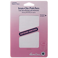 Iron - on - Patches Mending  - 13 colours - Pick  from drop down List- HEMLINE
