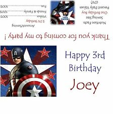 Captain America Candy Bar Wrappers/Birthday Party Favors