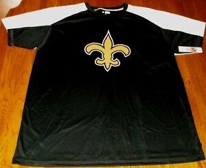 New Orleans Saints Birdseye Jersey Shirt 3XL Stay Dry VF Imagewear NFL