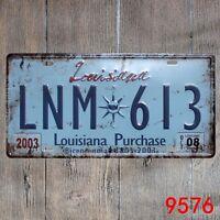Metal Tin Sign louisiana plaque Decor Bar Pub Home Vintage Retro Poster Cafe ART