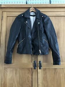 River Island Leather Look Jacket Size 10