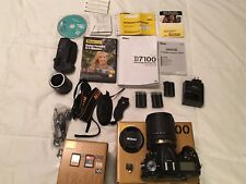 PRE-OWNED Nikon D7100 DSLR Camera W/ 18-140mm  lens Bundle kit PRE-OWNED .