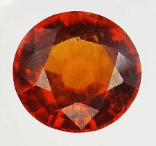 HESSONITE GARNET Natural Round Loose Ring Stones Vedic Astrology Gem of Rahu-Q