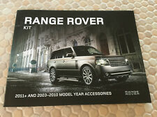LAND ROVER RANGE ROVER KIT ACCESSORIES SALES BROCHURE 2011 & 2003-10 USA EDITION