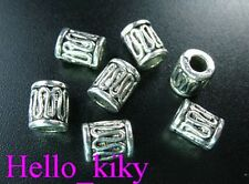 70 Pcs Tibetan silver wire curved tube spacer bead A48
