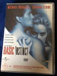 Basic Instinct - Region 4 DVD - Great Condition - Sharon Stone - FREE POST