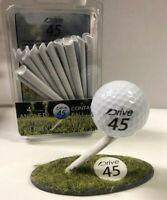 Drive 45 angled Golf Tees - 20 Pack - Club Face Ball Contact Before Tee!