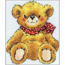 Teddy Bear Needlecraft Counted Cross Stitch Kit