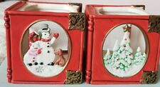 Partylite Holiday Book Tealite Holders
