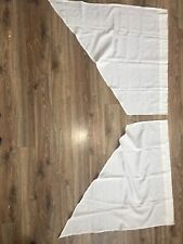 Simple Solid Ivory White Curtains Angled Short Valance