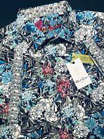 Robert Graham Large Shirt Mens Hide and Seek Geometric Floral Short Sleeve New