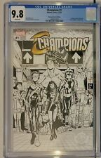 CHAMPIONS 1 CGC 9.8 FIRST PRINT 2016  SKETCH COLORING BOOK VARIANT COVER 🔥🔑