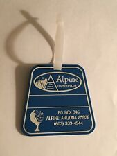 Vintage Rare Alpine Country Club Golf Bag Tag - Alpine, Arizona - A Beauty!