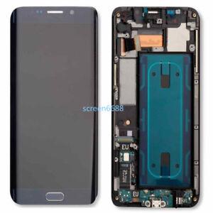 Pour Samsung Galaxy S6 Edge+ Plus G928F écran LCD Vitre Tactile+Cadre Bleu+Tool