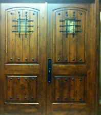 6068 Rustic Knotty Alder Arch Top Entry Doors - Fast Shipping