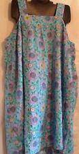 Dreams Co Woman Sleeveless Gown Cotton Poly Loungewear BLUE 4X 34/36