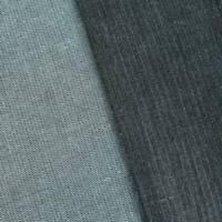 Black/Gray Wool Blend Herringbone Suiting, Fabric By The Yard