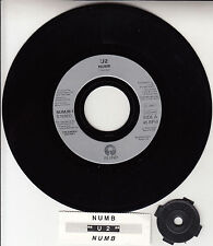 """U2  Numb 7"""" 45 rpm vinyl record + juke box title strip RARE!"""