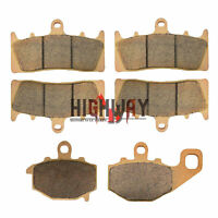 Front and Rear Brake Pads For KAWASAKI ZX 6R ZX 600 ZZR 600 ZX-9R Ninja ZX 900