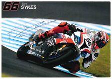 Tom Sykes World Superbikes WSB A5 Signed 2014 WSB Champion Team Card